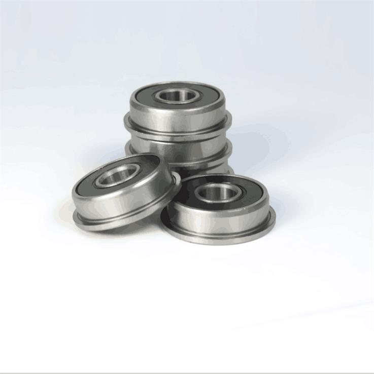 F695-2RS Miniature Flanged Deep Groove Ball Bearings 5x13x4mm