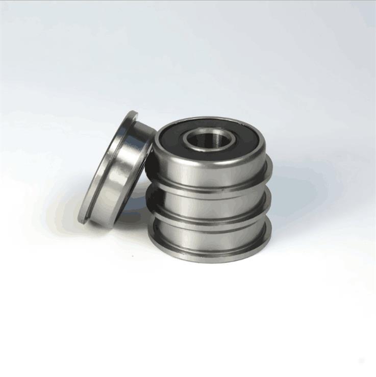 F698-2RS Miniature Flanged Deep Groove Ball Bearings 8x19x6mm