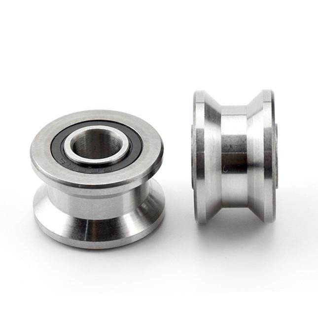 T22 V Flat Groove Roller Wheel Pulley Ball Bearings 8*22.5*14.5mm
