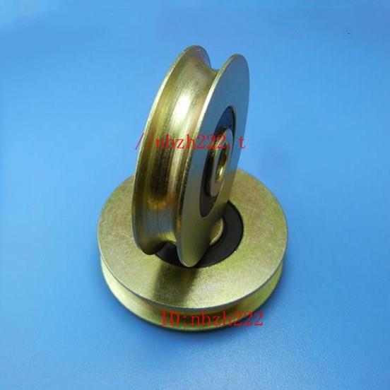 0638UU U Groove Guide steel roller wheel Pulley Sealed Rail bearings 6.5*36.5*9.5mm