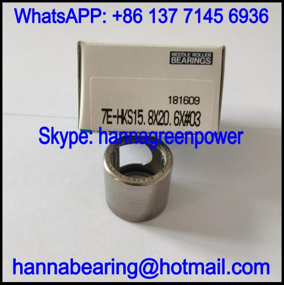 7E-HKS15.8X20.6X#03 Single Row Needle Roller Bearing 15.875x20.638x19.05mm
