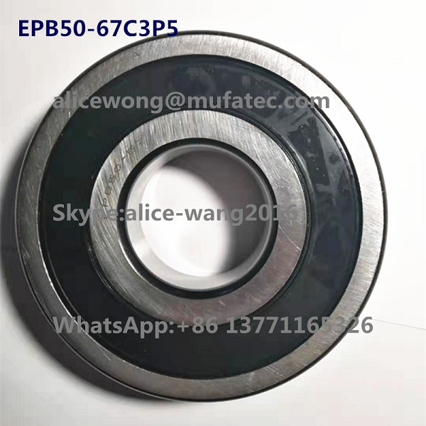 High Speed Ceramic Ball Bearings EPB50-67C3P5A for Motors 50x130x31