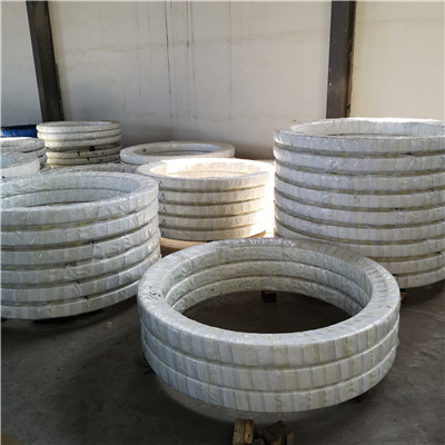 MTE-210T External Gear Slewing Ring Bearings (14.686*8.268*1.575inch) for Truck-mounted cranes