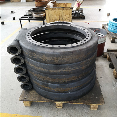 3R8-88P9 no gear heavy duty slewing bearing(94.88*81.1*5.79inch) for Large industrial turntables