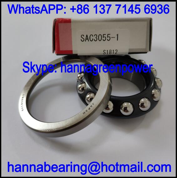 SAC3055-1 Motorcycle Bearing / Angular Contact Ball Bearing 30x55x17mm