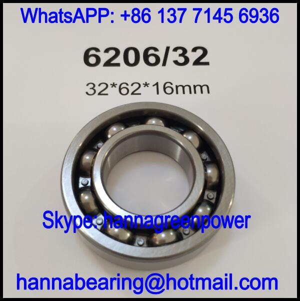 6206/32 Deep Groove Ball Bearing / Automobile Bearing 32*62*16mm