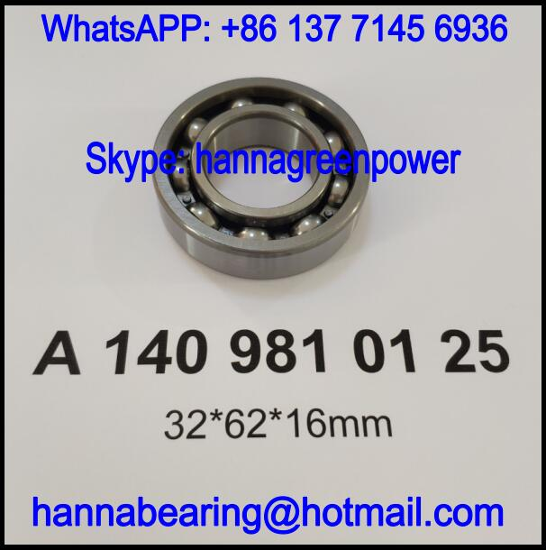 A 140 981 01 25 / A1409810125 Deep Groove Ball Bearing for Automobile 32x62x16mm