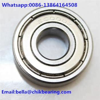 6000 Deep Groove Ball Bearing Size 10*26*8mm