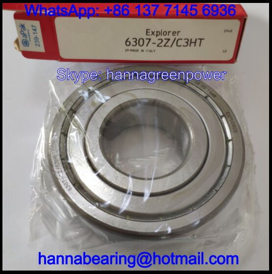 6307-2Z/C3HT High Temperature Deep Groove Ball Bearing 35*80*21mm