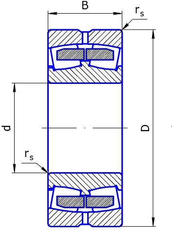 3003172N spherical roller bearings, double row 360*540*134