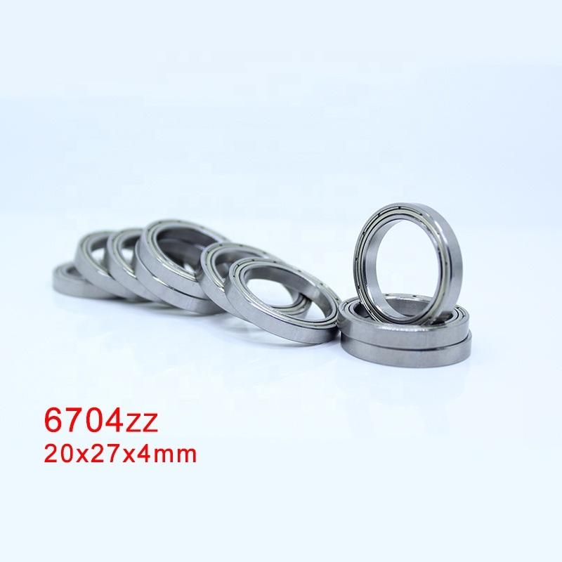 6704ZZ (61704ZZ) thin section ball bearing 20x27x4mm