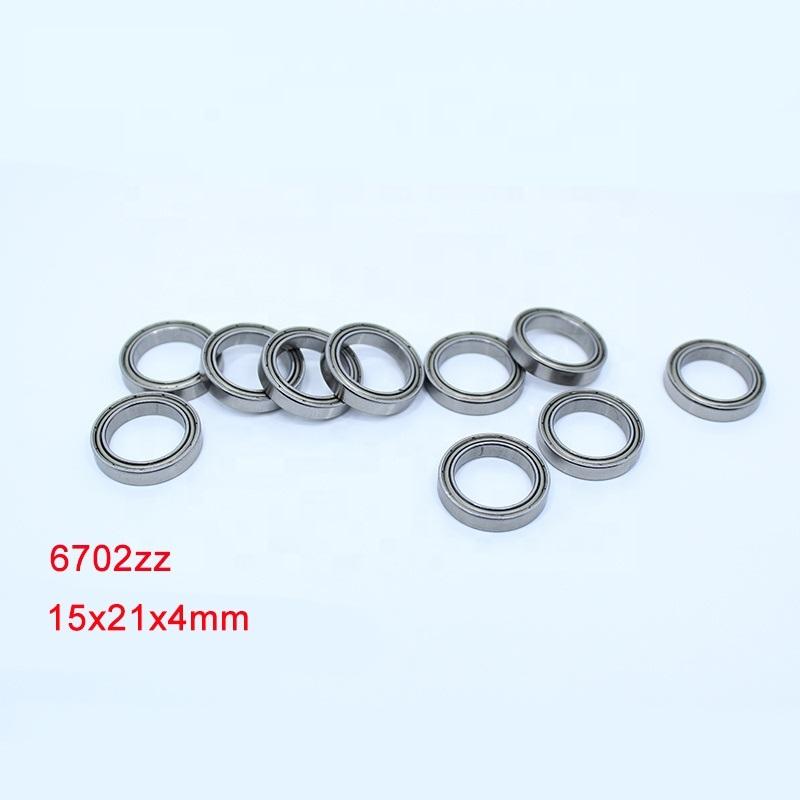 6702ZZ (61702ZZ) thin section ball bearing 15x21x4mm