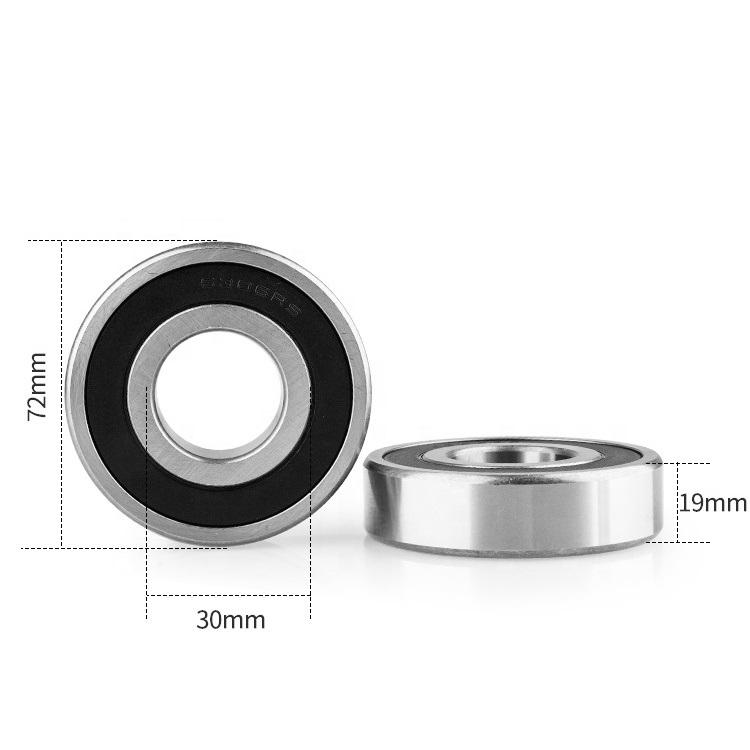 6306 2RS deep groove ball bearing 30x72x19mm