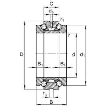 234422-M-SP Angular Contact Thrust Ball bearings 110*170*72mm