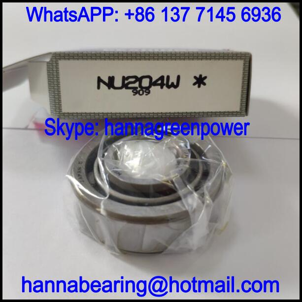 NU204W Steel Cage Cylindrical Roller Bearing 20x47x14mm