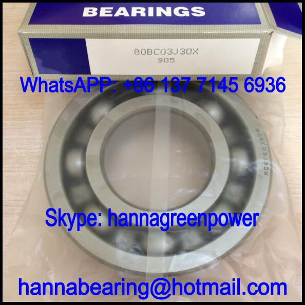 80BC03J30X Motor Bearing / Deep Groove Ball Bearing 80x170x39mm