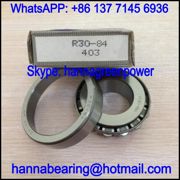 R30-84 Automobile Bearing / Tapered Roller Bearing 30x62x14/20mm