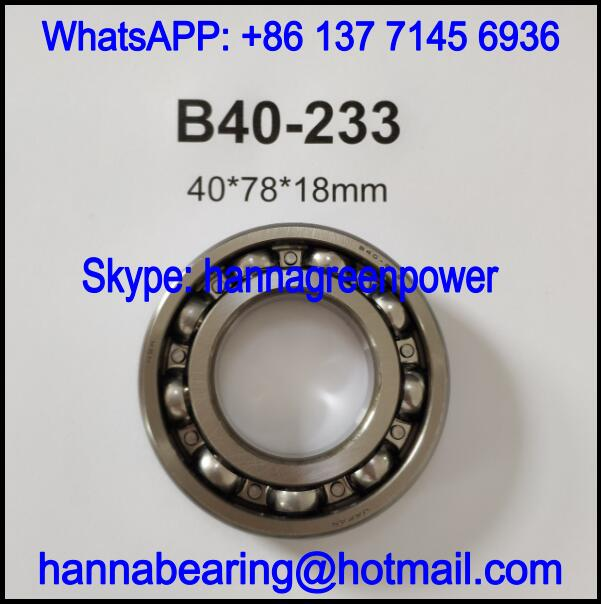 B40-233 / 6208a21 Automobile Deep Groove Ball Bearing 40x78x18mm