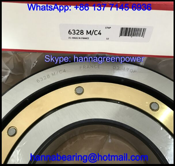 6328M/C4 Brass Cage Deep Groove Ball Bearing 140x300x62mm