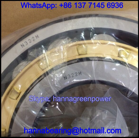 N322M / 2322H / N322EM Brass Cage Cylindrical Roller Bearing 110x240x50mm