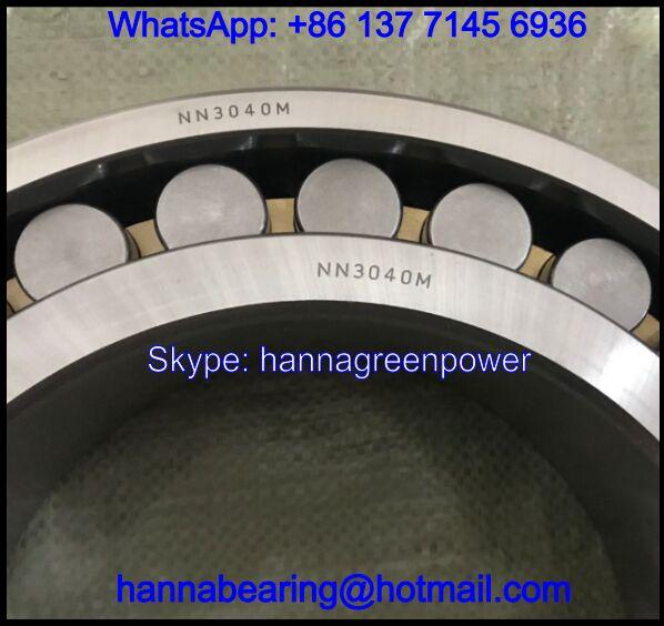 NN3040M / NN3040M/W33 Brass Cage Cylindrical Roller Bearing 200x310x82mm
