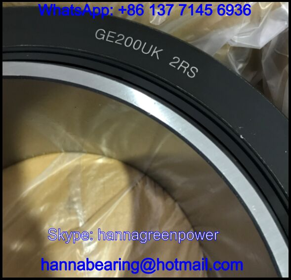 GE200UK-2RS Maintenance-Free Spherical Plain Bearing 200x290x130mm