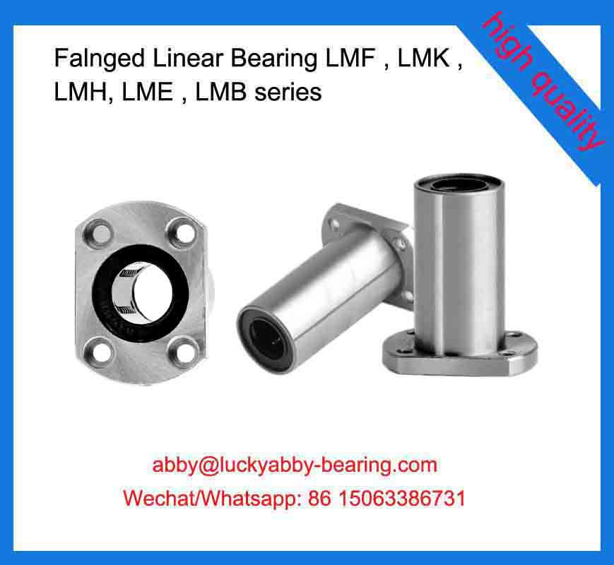 LMH10LUU Flanged Linear Bearings 10*19*55mm
