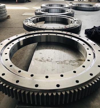 XA 402130N cross roller slewing bearing with external gear teeth 2381.4*1965*118mm