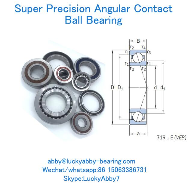 VEB15 7CE1 , 71902CE/P4A Super precision P4,P5 Angular contact ball bearing 15mmx28mmX7mm