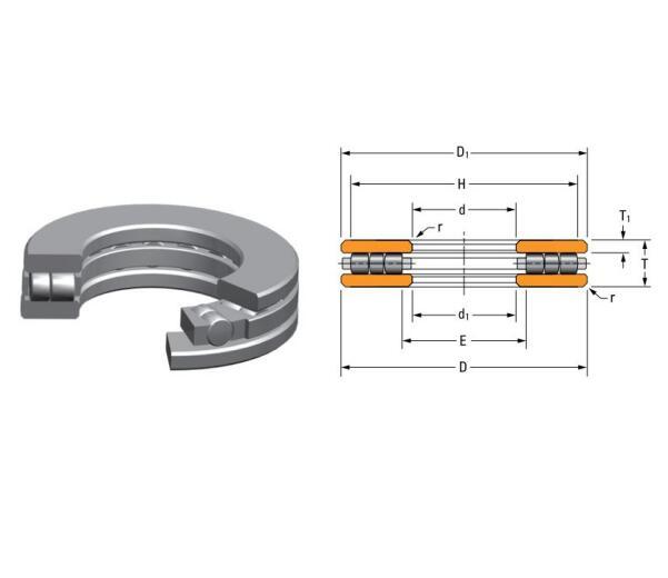 E-2268-A Thrust Cylindrical Roller Bearings 34.5x44x5.5 inch