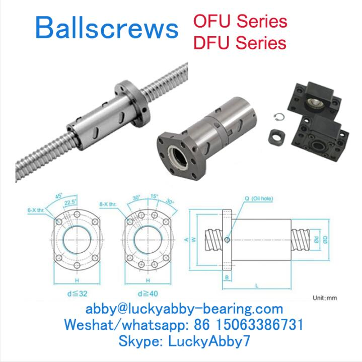 DFU10020-4 DFU Series Ballscrews Nut 100mmx150/202mmx340mm