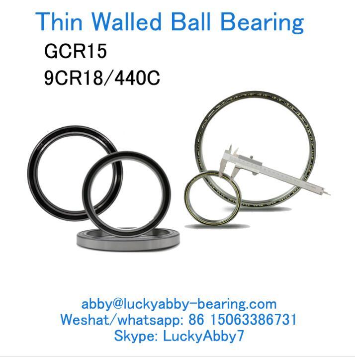 PBXC065 Thin Walled Ball bearing DI 165.10mm x DE 184.15mm x Largura 9.525mm