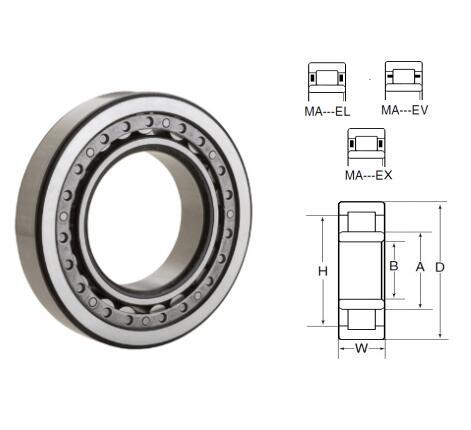 MA5304EV Single Row Cylindrical Roller Bearings 20x52x22.225mm