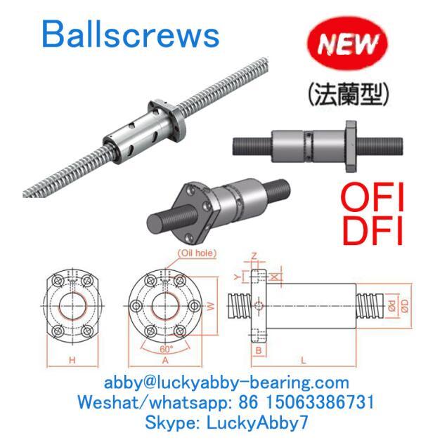 DFI0325T-4 DFI Off set Double nut type Ballscrews 32mmx46/72mmx102mm