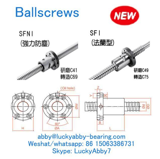 SFI02504-4 SFI Series Ballscrews 25mmx40/63mmx51mm