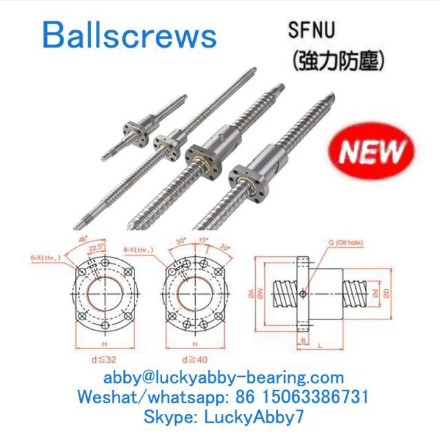 SFNU02005-4 SFNU Strong Dust-proof type Ballscrews 20mmx36/58mmx51mm