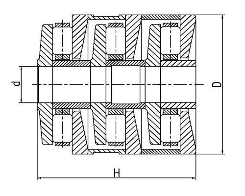 F-81657.T8AR Multi-Stage cylindrical roller thrust bearings