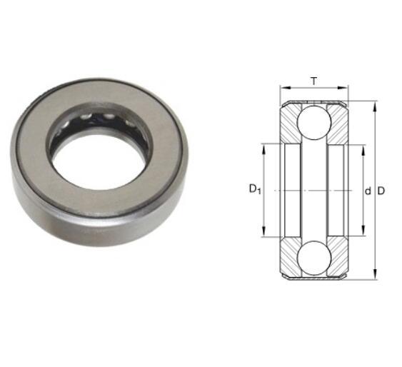 D1 Thrust Ball Bearing 12,7x30,963x14,3mm