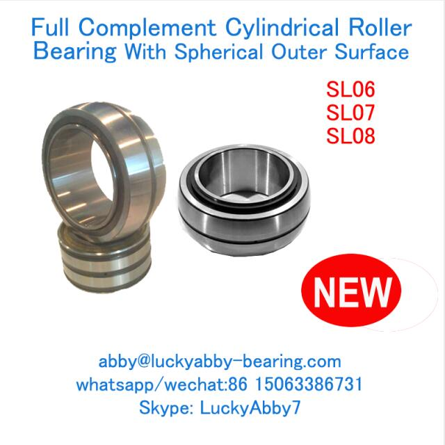 SL08022 Spherical Outer Surface Cylindrical Roller Bearing 110mmX170mmX75mm