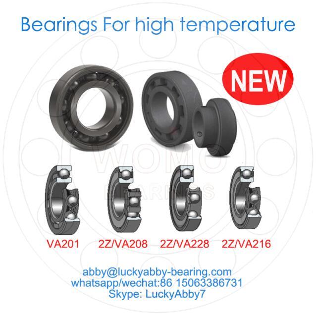 6304-2Z/VA201 Ball Bearings For High Temperature 20mm*52mm*15mm