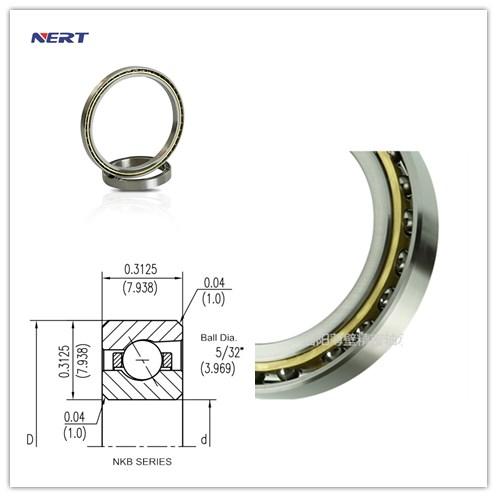 Inch Size KB030AR0 Angular Contact Bearing 76.2 x 92.075 x 7.938mm