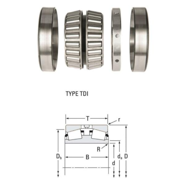 95499D/95912 TDI Type Tapered Roller Bearing 127x231.775x139.697mm