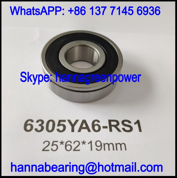 6305YA6-RS1 Automobile Bearing / Deep Groove Ball Bearing 25x62x19mm