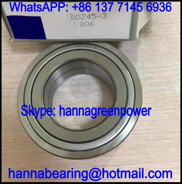 BDZ45-3 Automobile Steering Bearing / Angular Contact Ball Bearing 45x79x26mm