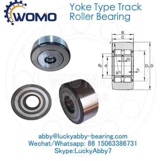 NNTR60X150X75-2ZL Full complement Yoke Type track roller bearing 60mm*150mm*75mm