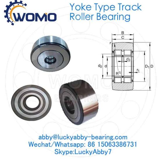 NNTR90X220X100-2ZL Full complement Yoke Type track roller bearing 90mm*220mm*100mm