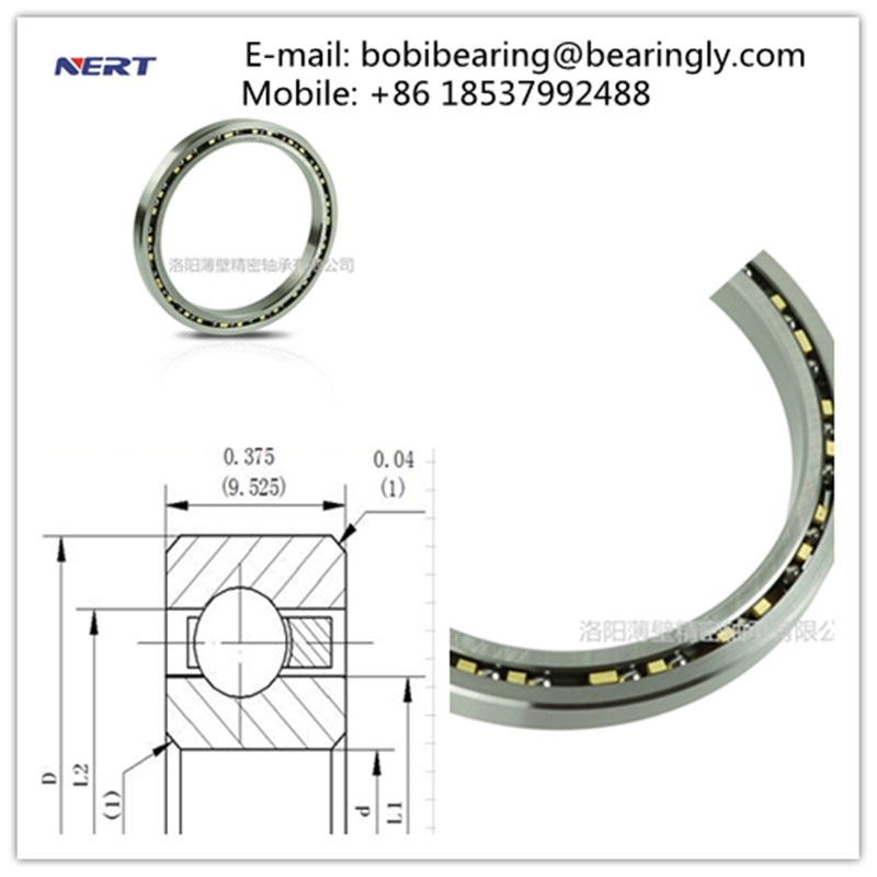 KC060XP0 Food Processing Machinery Bearings 127 x 146.05 x 9.525mm