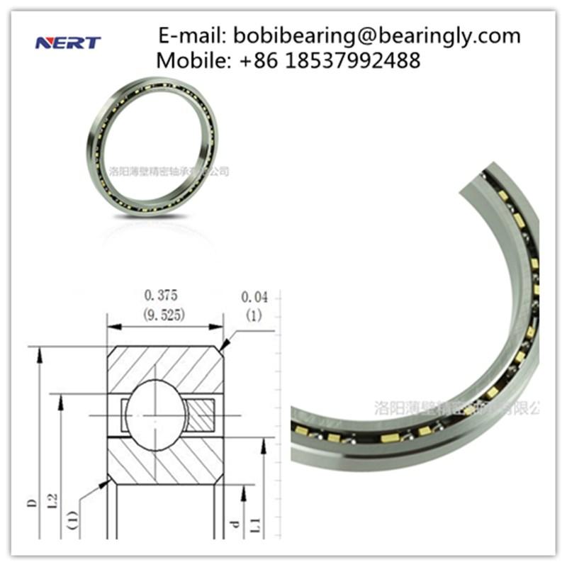 KC120XP0 KC Series Super-thin Section Ball Bearings 304.8 x 323.85 x 9.525 mm Robot Joint Bearinig