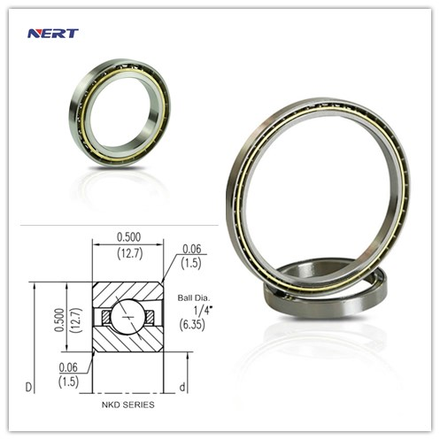 KD075AR0 Precision Constant Section Thin Bearings Inch Size 7.5 x 8.5 12.7