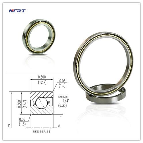 KD090AR0 Thin -Walled Angular Contact Ball Bearing Size 228.6 x 254 x 12.7mm